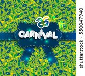 bright carnival and sign... | Shutterstock . vector #550047940