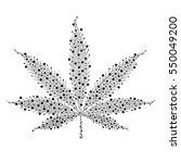 marijuana. vector cannabis leaf ... | Shutterstock .eps vector #550049200