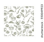 seamless vector pattern with... | Shutterstock .eps vector #550049923