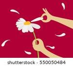 plucking off the petals of... | Shutterstock .eps vector #550050484