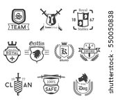 black crest shield badges... | Shutterstock .eps vector #550050838