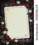 alice in wonderland. red roses... | Shutterstock . vector #550058119