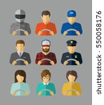 set of different drivers with... | Shutterstock .eps vector #550058176