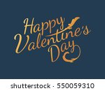 golden happy valentine's day... | Shutterstock .eps vector #550059310