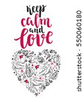 keep calm and love. background... | Shutterstock .eps vector #550060180