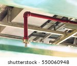 automatic fire sprinkler in red ...