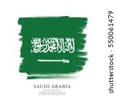 flag of saudi arabia  brush... | Shutterstock .eps vector #550061479