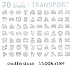set vector line icons in flat... | Shutterstock .eps vector #550065184