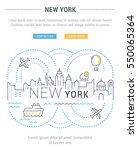 flat line illustration of new... | Shutterstock .eps vector #550065364