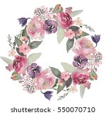 watercolor floral illustration  ... | Shutterstock . vector #550070710