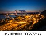 tsingma bridge from top view of ... | Shutterstock . vector #550077418