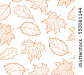 Doodle Leaves Seamless Pattern...