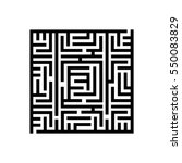 square labyrinth. maze icon... | Shutterstock .eps vector #550083829