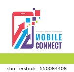 mobile phone connect vector... | Shutterstock .eps vector #550084408