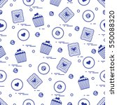 cute seamless pattern with... | Shutterstock .eps vector #550088320