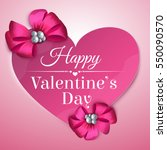 valentines day card with paper... | Shutterstock .eps vector #550090570