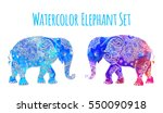 Elephant Color Illustration...
