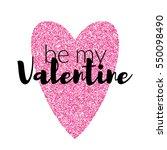 typographic valentines label... | Shutterstock .eps vector #550098490