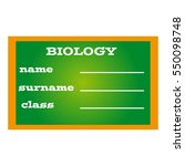 label book biology on green... | Shutterstock .eps vector #550098748