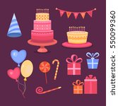 set of objects on the theme of... | Shutterstock . vector #550099360