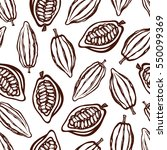 seamless pattern with cocoa... | Shutterstock .eps vector #550099369