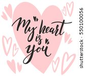 lettering about love   Shutterstock .eps vector #550100056