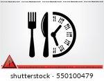 fork knife clock icon vector...   Shutterstock .eps vector #550100479
