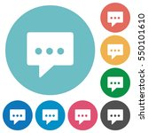 working chat flat white icons... | Shutterstock .eps vector #550101610