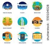 travel set. modern flat design. ... | Shutterstock .eps vector #550104028
