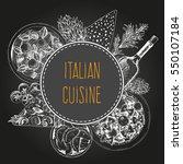 vector italian cuisine...   Shutterstock .eps vector #550107184