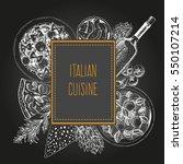 italian cuisine vector...   Shutterstock .eps vector #550107214