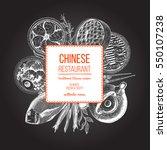 vector asian food illustration. ... | Shutterstock .eps vector #550107238