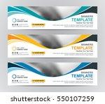 abstract web banner design... | Shutterstock .eps vector #550107259