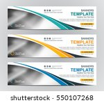 abstract web banner design... | Shutterstock .eps vector #550107268