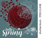 hello spring grating card.... | Shutterstock .eps vector #550111438
