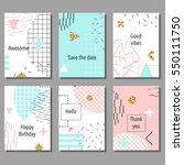 set of artistic colorful... | Shutterstock .eps vector #550111750