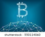 bitcoin vector illustration... | Shutterstock .eps vector #550114060