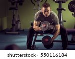 young muscular built athlete... | Shutterstock . vector #550116184