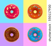 four vector realistic donuts in ... | Shutterstock .eps vector #550117930