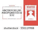 western alphabet font design... | Shutterstock .eps vector #550119988