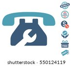 repair service phone pictograph ... | Shutterstock .eps vector #550124119