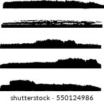 set of grunge stroke lines   Shutterstock .eps vector #550124986