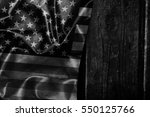 usa flag on a wood surface | Shutterstock . vector #550125766