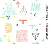 trendy geometric elements... | Shutterstock .eps vector #550135564