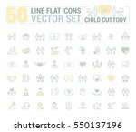vector graphic set. icons in... | Shutterstock .eps vector #550137196