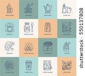 coffee making equipment vector... | Shutterstock .eps vector #550137808