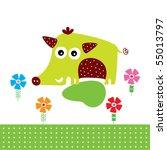 cute wild boar garden | Shutterstock .eps vector #55013797