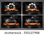 casino card design   vintage... | Shutterstock .eps vector #550137988