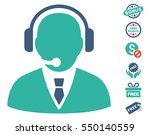 support manager icon with free... | Shutterstock .eps vector #550140559
