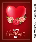 valentines day background with...   Shutterstock .eps vector #550156288